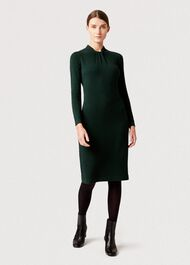Kelsey Knitted Dress, Fern Green, hi-res