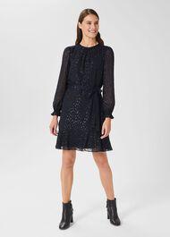 Frances Dress, Navy, hi-res
