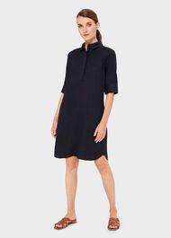 Marciella Linen Tunic Dress, Navy, hi-res