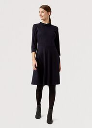 Lillith Dress, Navy Red, hi-res