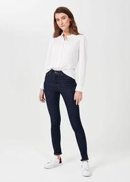Bree Cotton Blend Shirt, Ivory, hi-res