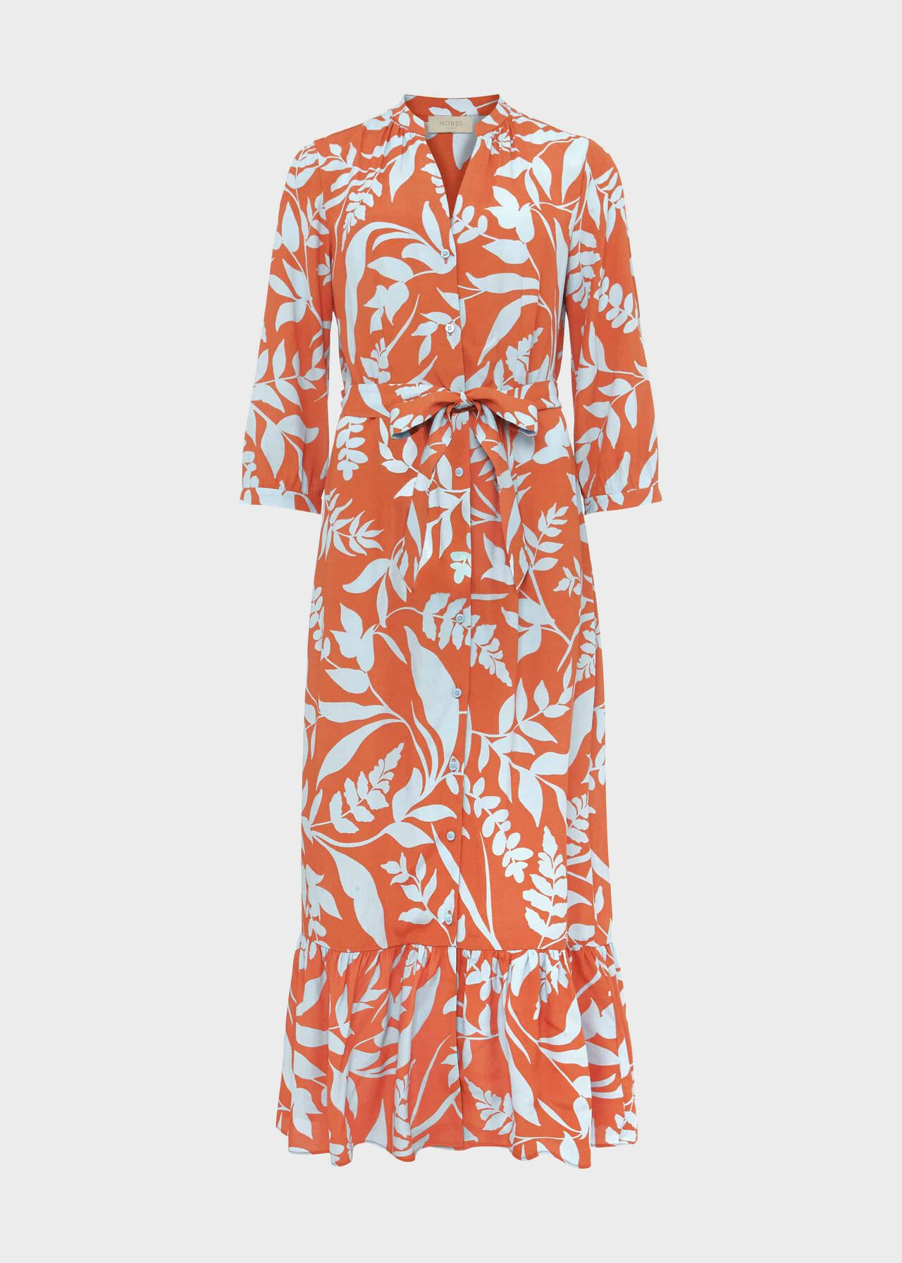 Magda Printed Midi Dress Brandy Snap Blu