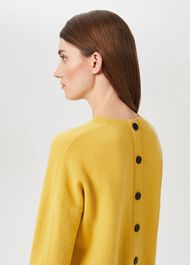 Lydia Wool Cashmere Jumper, Corn Yellow, hi-res