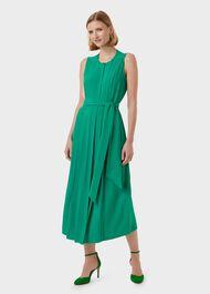 Deanna Midi Dress, Green, hi-res