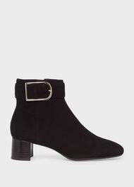 Suzannah Suede Ankle Boot, Black, hi-res