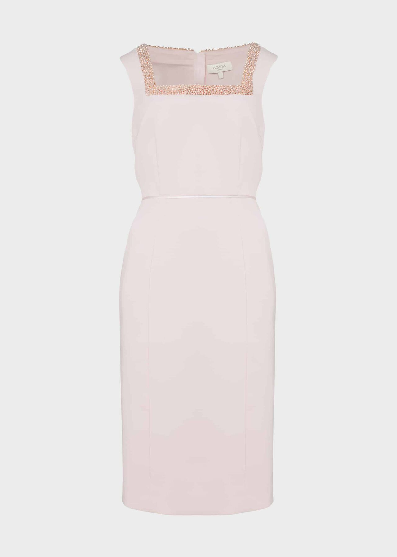 Miranda Shift Beaded Dress Pink