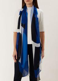 Gina Scarf, Blue Multi, hi-res