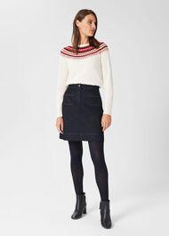Ami Denim Mini Skirt, Dark Indigo, hi-res
