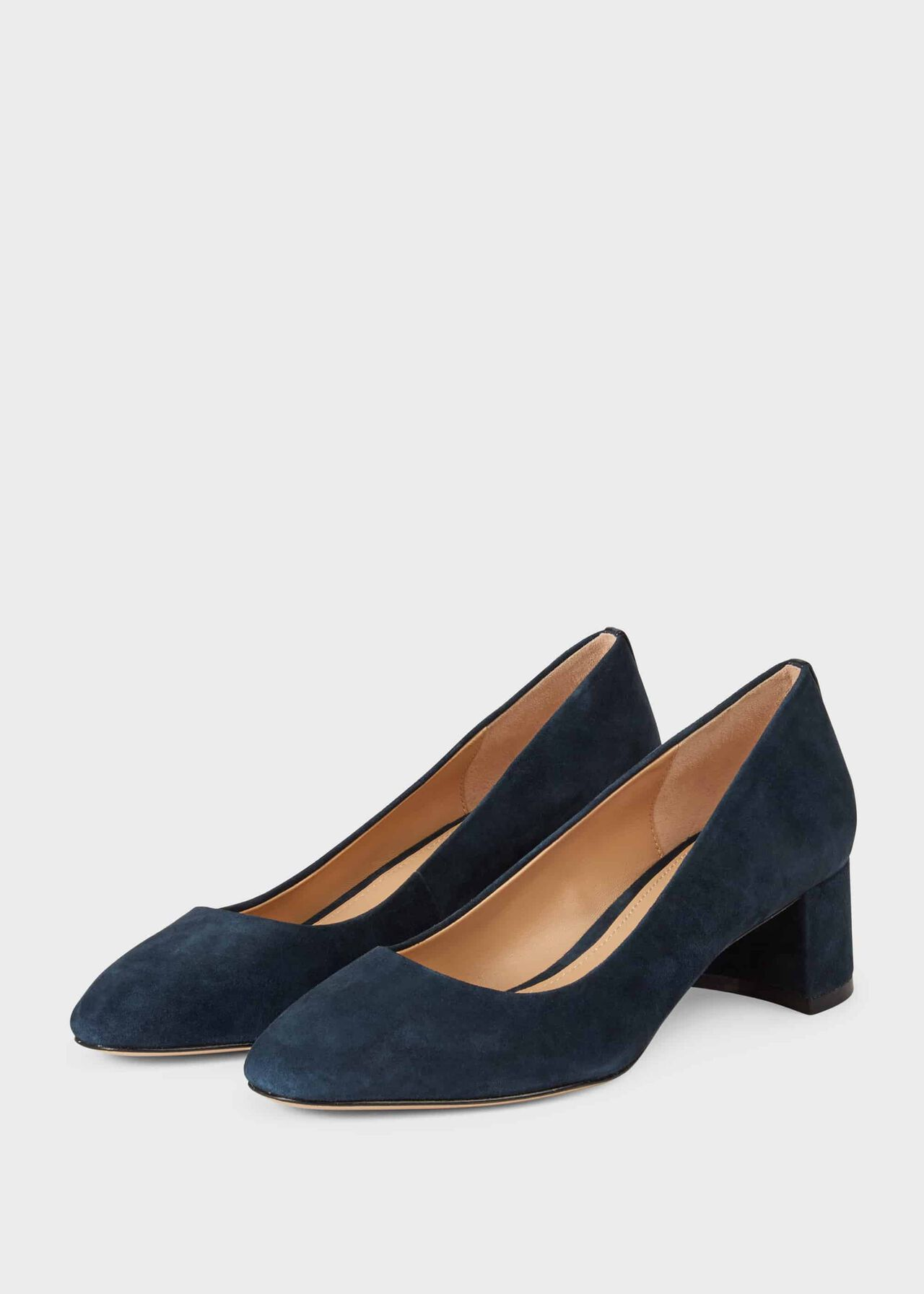 Abbey Suede Court Shoes Navy