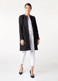 Tamara Coat, Navy Ivory, hi-res