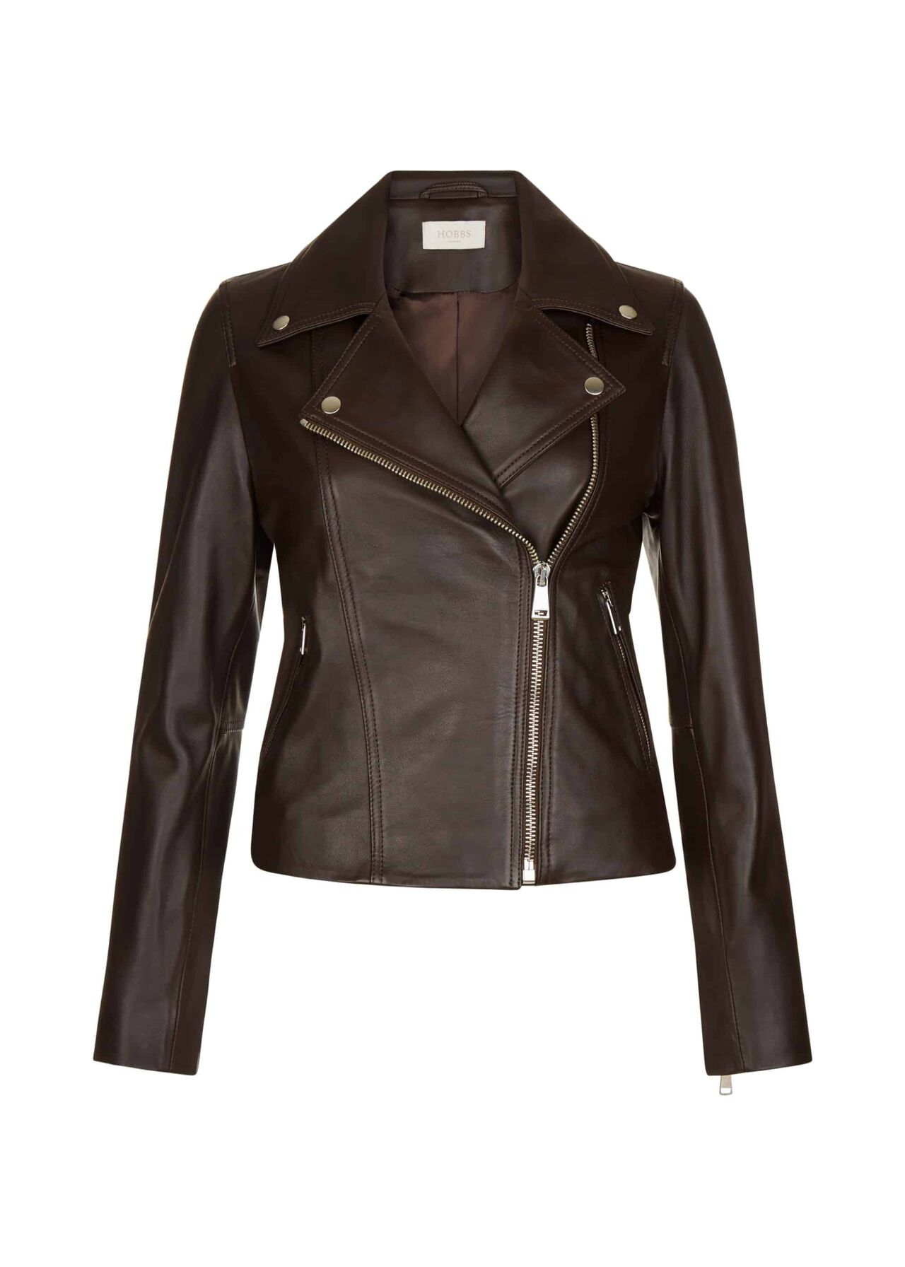 Thea Leather Jacket Chocolate