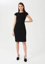 Petite Ophelia Shift Dress, Black, hi-res