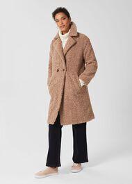 Charlize Teddy Coat, Camel, hi-res