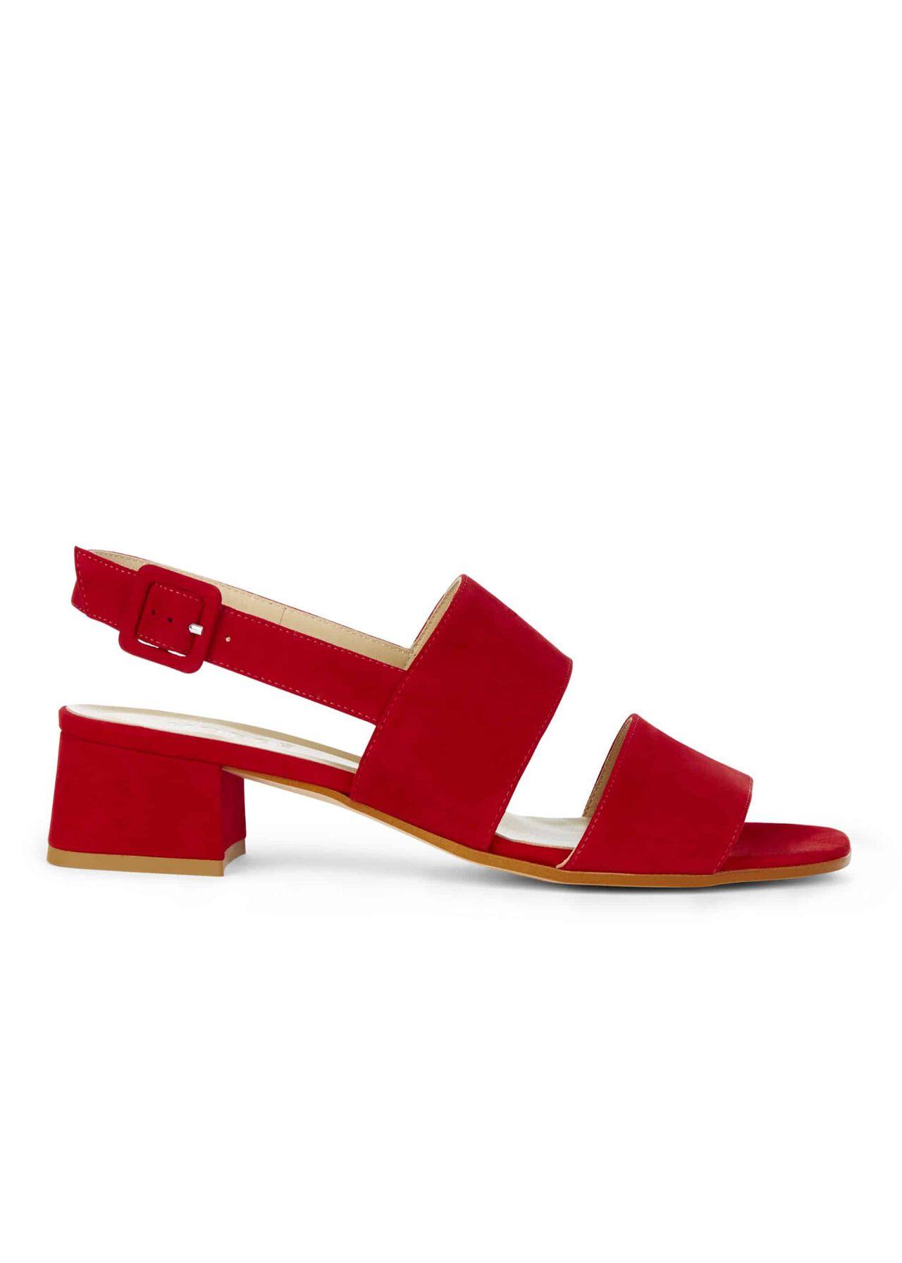 Claudia Sandal Scarlet Red