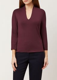 Aimee Top, Burgundy, hi-res