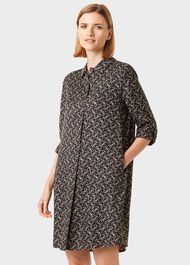Marci Tunic Dress, Navy Gold, hi-res