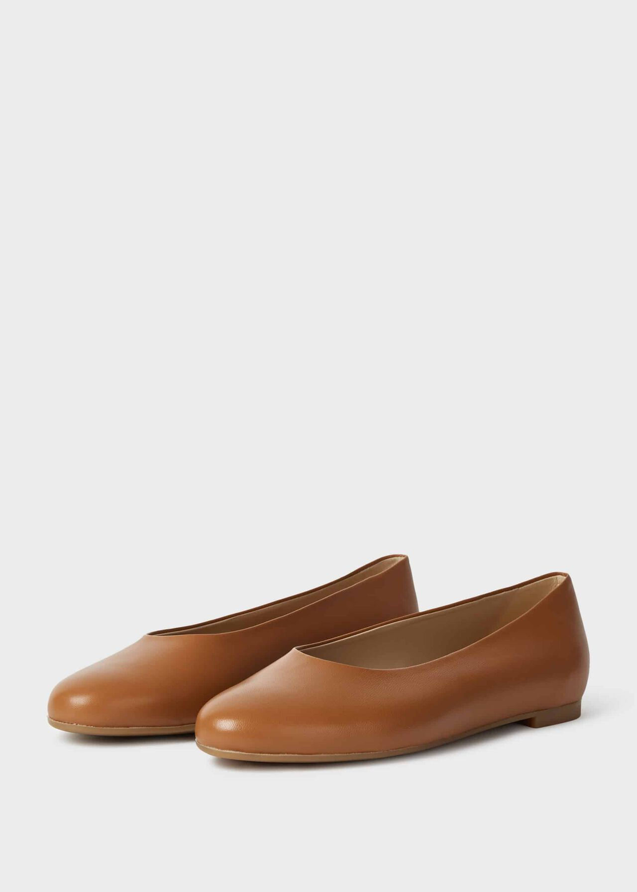 Suki Leather Ballerinas Toffee