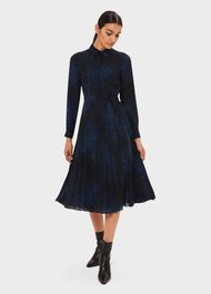 Adalyn Dress, Electrc Blu Blk, hi-res