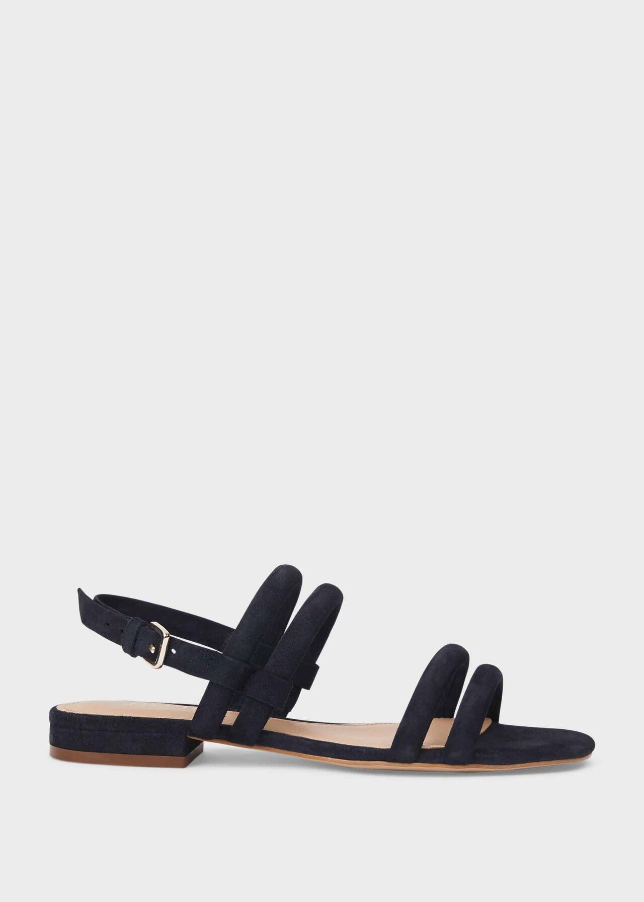 Orla Suede Sandals, Navy, hi-res
