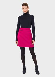 Arianne Wool A-Line Skirt, Bright Pink, hi-res