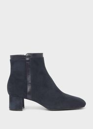 Iro Suede Ankle Boots, Navy, hi-res