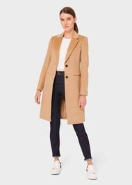 Tilda Wool Collar Coat, Camel, hi-res