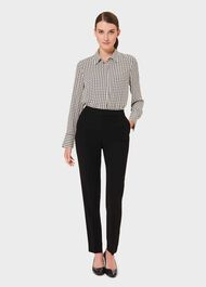 Alva Tapered trousers, Black, hi-res
