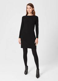 Viviene Knitted Dress, Black, hi-res