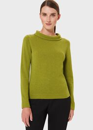 Audrey Wool Cashmere Jumper, Bright Green, hi-res
