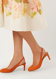 Sophia Slingback, Sunset Orange, hi-res
