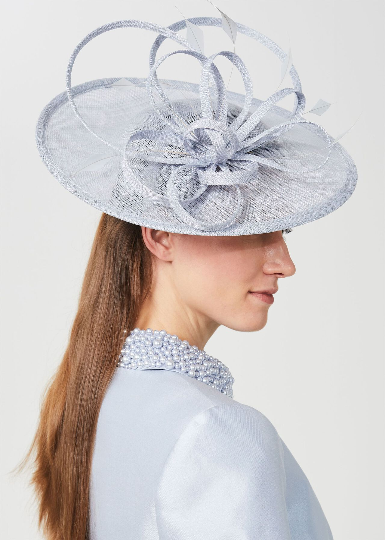 Freya Fascinator, Celeste Blue, hi-res