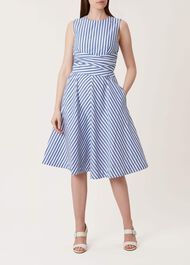 Twitchill Dress, Blue White, hi-res