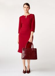 Oxford Tote, Burgundy, hi-res