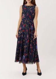 Carly Dress, Navy Multi, hi-res