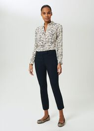 Annie Slim Trousers With Stretch, Navy, hi-res
