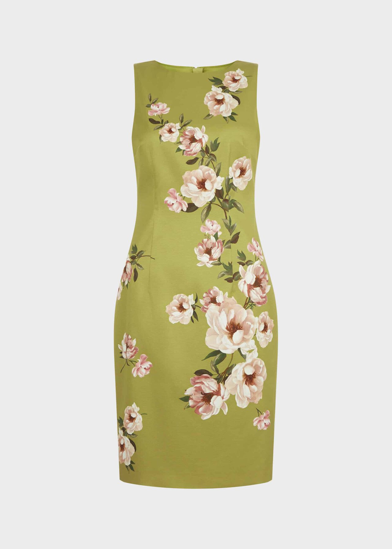 Moira Floral Shift Dress Spring Grn Blsh