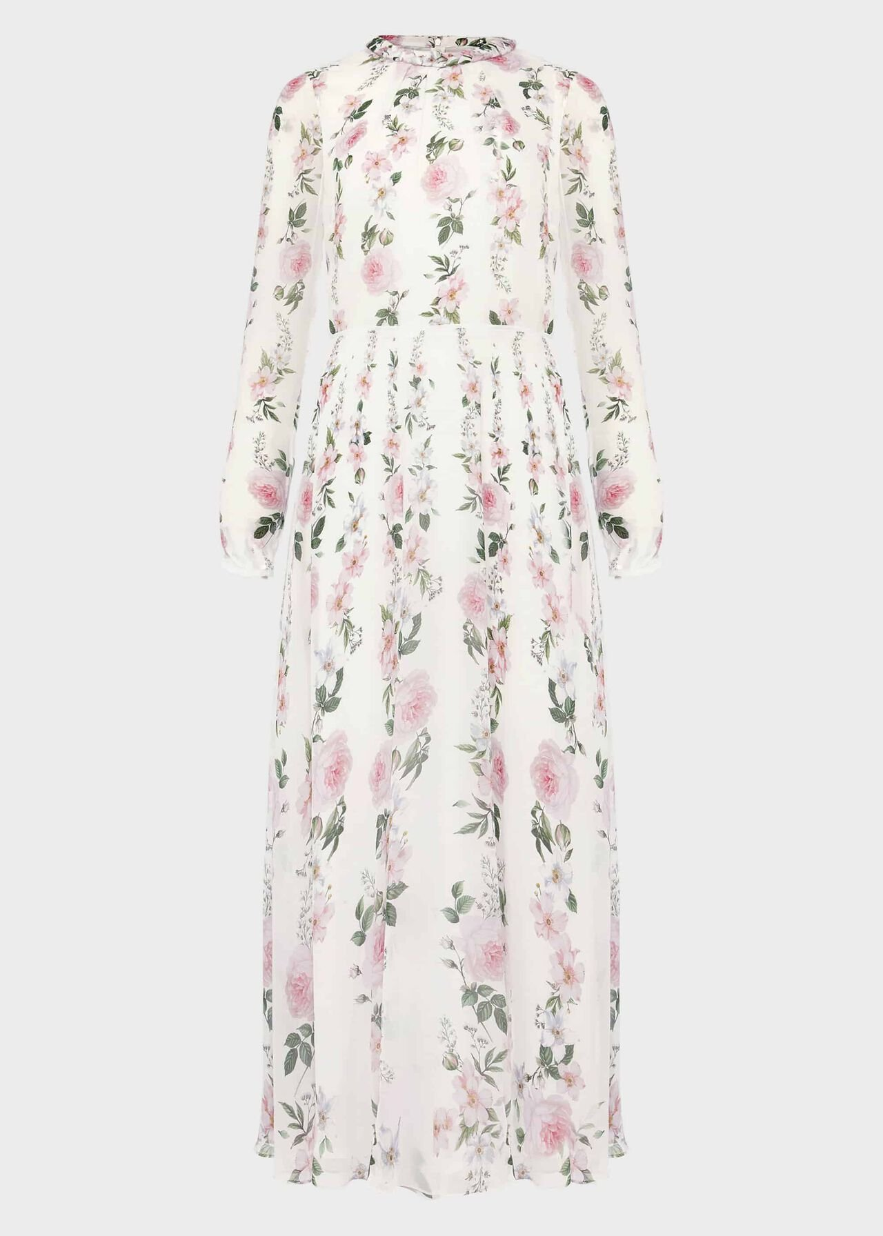 Rosabelle Silk Floral Dress Ivory Multi