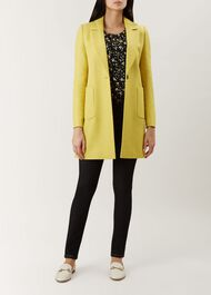 Camellia Coat, Yellow, hi-res
