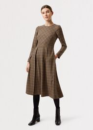 Sophia Wool Blend  Dress, Camel Multi, hi-res