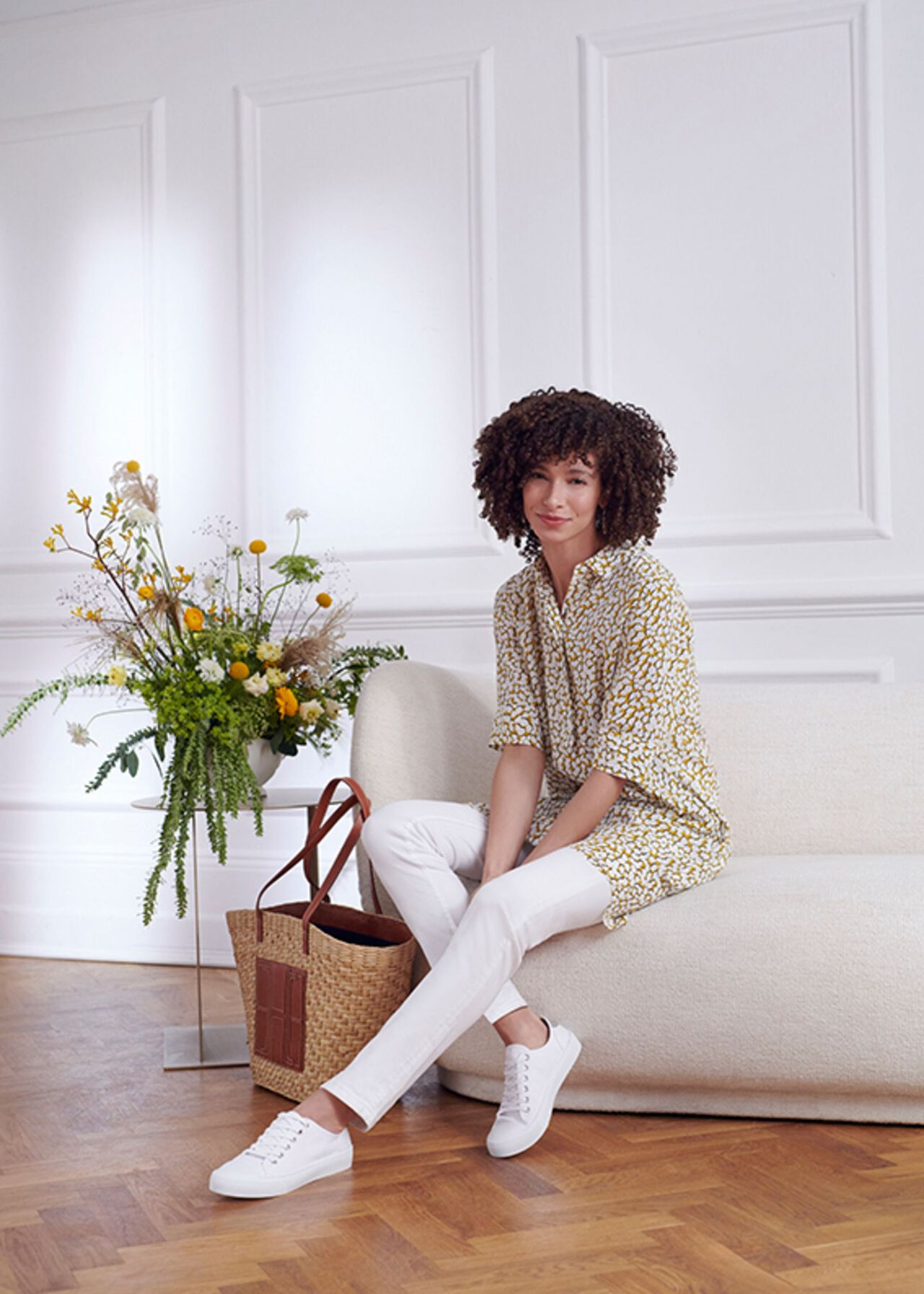 The Marcella Dress With Jeans Outfit, , hi-res
