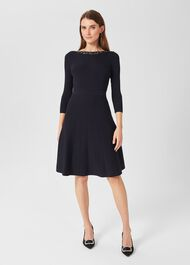 Emily Knitted Dress, Navy, hi-res