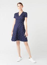 Darcie Dress, Navy Ivory, hi-res