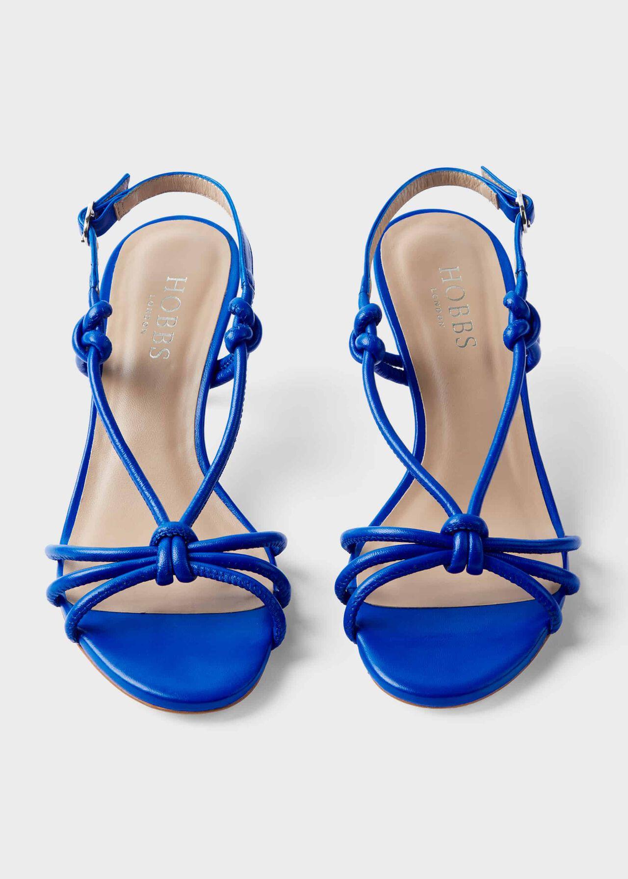 Billie Leather Kitten Heel Sandals, Cobalt, hi-res