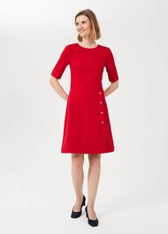 Petite Anela Jersey Dress, Flag Red, hi-res
