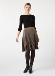 Naomi Knitted Dress, Black Camel, hi-res