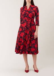 Ciara Dress, Navy Red, hi-res