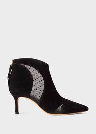Rhea Suede Stiletto Ankle Boots, Black, hi-res