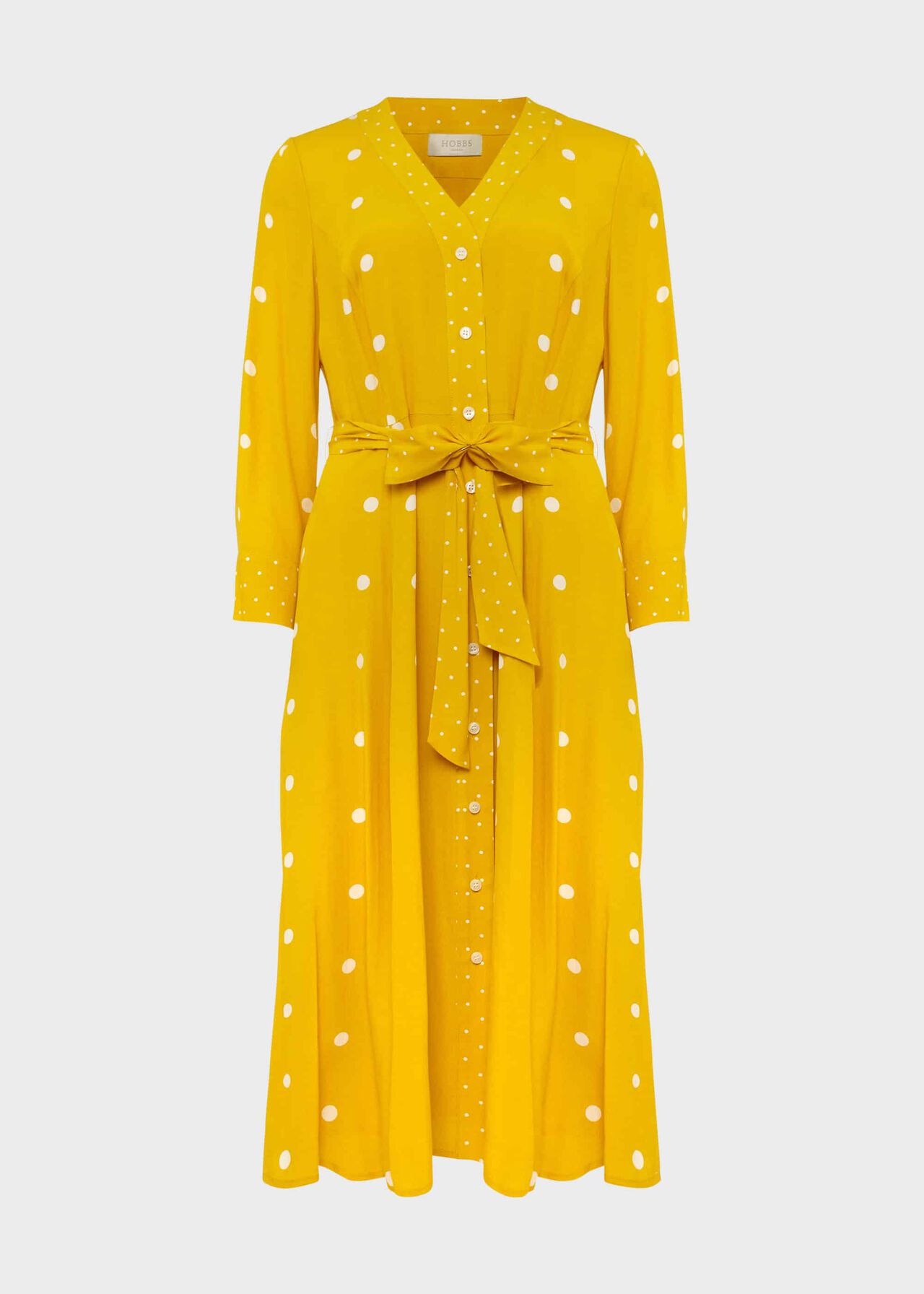 Talia Spot Dress Yellow Ivory