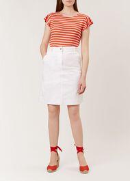 Bronte Skirt, White, hi-res