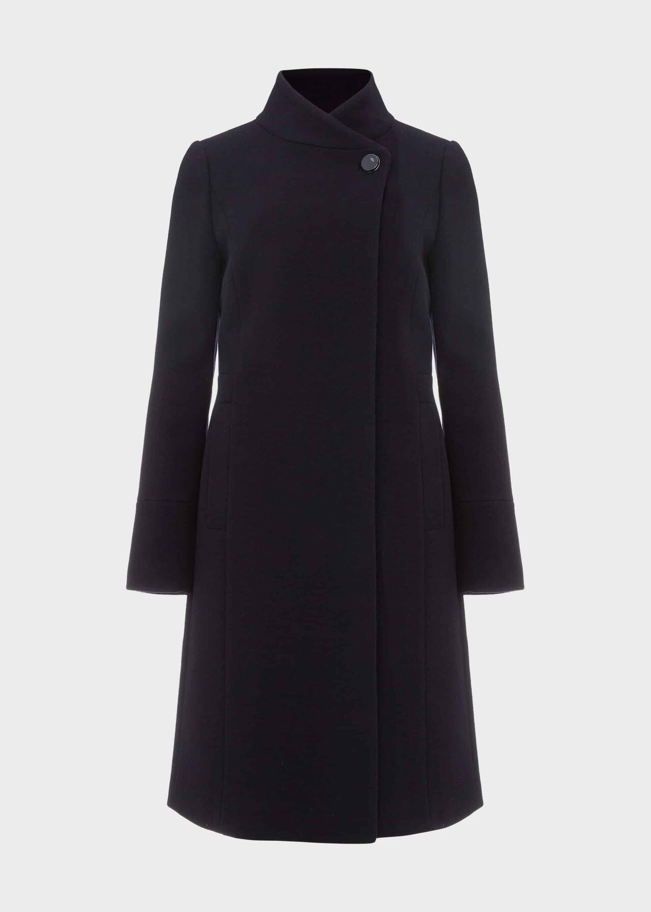 Maisie Wool Blend Coat Navy
